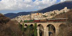 treno da Sulmona a Carpinone, Abruzzo&Molise, Italia.