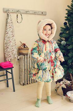 Beautiful padded girl's coat Amber Demiel Padding