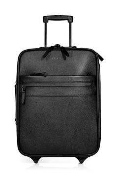 a4767a88e23d Burberry Black Textured Leather Carry-On Suitcase in Black
