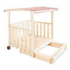 Pinolino sandbox and playhouse
