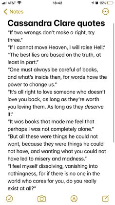 Ya Book Quotes, Favorite Book Quotes, Book Memes, True Quotes, Words Quotes, I Love Books, Good Books, Cassandra Clare Quotes, Shadowhunter Quotes