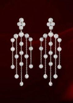diamants legers de cartier earrings | diamonds and white gold | cartier photo by cartier