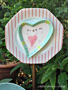 Dream Heart Plate Flower  As Featured In by GardenWhimsiesByMary, $30.00