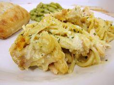 Cheesy Chicken Spaghetti Casserole   Plain Chicken