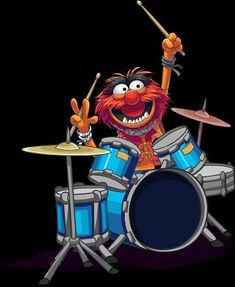 Find high-quality images, photos, and animated GIFS with Bing Images Classic Cartoon Characters, Classic Cartoons, Kinds Of Music, Music Love, Animal Muppet, Drums Art, Good Morning Funny, Music Artwork, Jim Henson