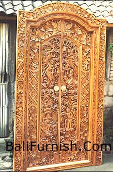 Carved wood doors in traditional Balinese style. Description from balifurnish.com. I searched for this on bing.com/images