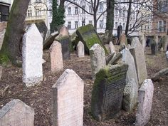 The Old Jewish Cemetery lies in the Josefov, the Jewish Quarter of Prague, Czech Republic