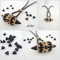 Beading Tutorial pendant ÂDITE step by step with pictures : Tutoriels de fabrication par passion-bijoux