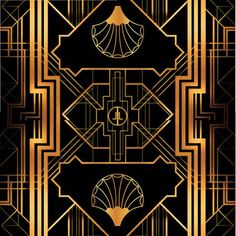 Great Gatsby Art Deco Backdrop for Photos Wall Decor by StudioDMD