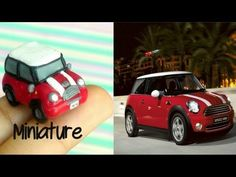 how to: miniature Mini Cooper Polymer Clay Animals, Cute Polymer Clay, Polymer Clay Miniatures, Fimo Clay, Polymer Clay Charms, Polymer Clay Projects, Handmade Polymer Clay, Good Tutorials, Clay Tutorials