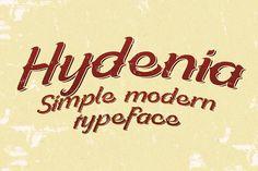 Hydenia typeface by Alterdeco Inc. on @creativemarket