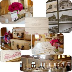Train themed wedding
