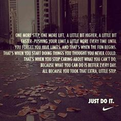 That extra little step. Get more running motivation on Favorite Run Facebook page - https://www.facebook.com/myfavoriterun