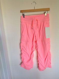 lululemon studio crop 4 Coral Pink Nwt #Lululemon #PantsTightsLeggings