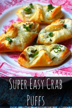 Super Easy Crab Puffs MUST Make Recipe! You will not believe how inexpensive this recipe is — and how easy this recipe is to make. Very Easy Crab Recipe – 30 minute recipe – Super Simple Side Recipe Too! Finger Food Appetizers, Appetizers For Party, Finger Foods, Appetizer Recipes, Crab Appetizer, Seafood Appetizers, East Appetizers, Simple Appetizers, Recipes Dinner