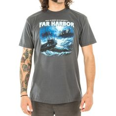 Men's 100% premium cotton charcoal t-shirt with screenprint on the front and Fallout logo on back. Note: Photos may vary from actual product.