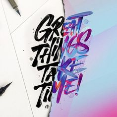 Lettering by Stephane Lopes and David Milan Typography Images, Typography Quotes, Typography Inspiration, Typography Letters, Typography Poster, Graphic Design Inspiration, Words Wallpaper, Wallpaper Quotes, Iphone Wallpaper