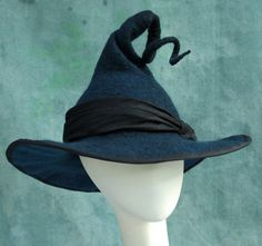 Witch Hat - Black Witch Hat - Curly Witch Hat - Large Brimmed Witch Hat…