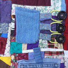 Fidget Quilt/Sensory Blanket This n That Blue