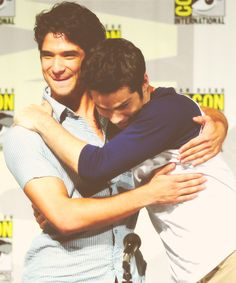 tyler posey and dylan o'brien - I am so for guys hugging especially these two