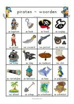 Woordenblad Piraten Peter Pan, Learn Dutch, Workshop, School, Creative, Projects, Water, Bingo, Homework
