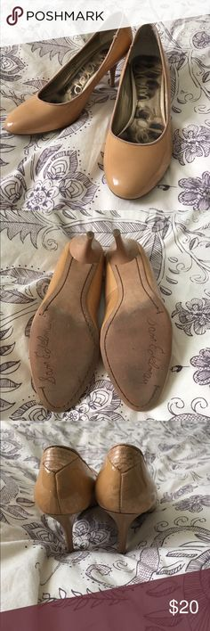 Sam Edelman Patent Leather pumps size 6 Lightly worn, a few scuffs but in good condition. These are the same style of shoes Laura Dern RAN in in Jurassic Park :) They are surprisingly comfortable, although I'm pretty sure I never ran in them. They are a tan nude Sam Edelman Shoes Heels