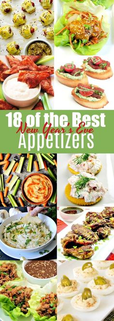 18 of the best appetizers for New Year's Eve! From www.bobbiskozykitchen