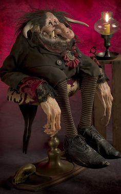 **The Hobgoblin by Thomas Kuebler, life-sized character sculptures