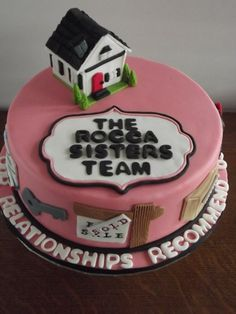 This cake celebrates the Rocca Sisters Team- one of our favourite realtor cakes!