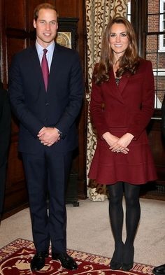 Prince William, Duke of Cambridge and Catherine, Duchess of Cambridge visit with the Duke and Duchess of Cambridge Scholarship recipients at a meeting held at Middle Temple in London.