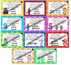 Αφίσες με ποιηματάκια πολλαπλασιασμού Primary School, Maths, Bullet Journal, Education, Upper Elementary, Onderwijs, Learning, Elementary Schools