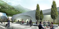 Image 49 of 50 from gallery of BIG Selected to Design San Pellegrino Factory and Headquarters in Northern Italy. Photograph by BIG San Pellegrino, Big Architects, Win Competitions, Northern Italy, Contemporary Architecture, Construction, Gallery, Water, Group
