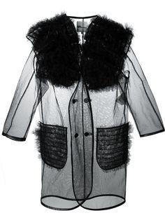 b3d6bdf436253 Shop Comme Des Garçons Noir Kei Ninomiya puffed tulle coat in Penelope from  the world s best
