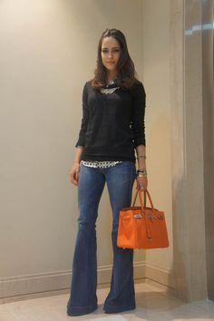 flare, camisa, blusa frio, bag laranja via: www.thefashionhall.com.br/page/7#