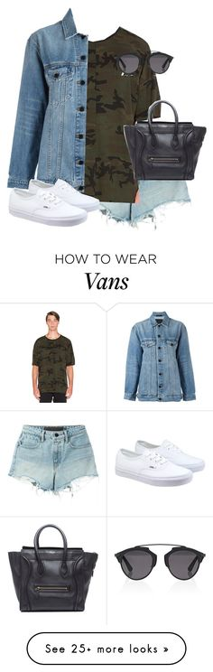 """""""Untitled #12478"""" by alexsrogers on Polyvore featuring Alexander Wang, daniel patrick, Vans, CÉLINE and Christian Dior"""