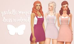 The Sims 4 CC || pxelpink || hopelesslyminiaturesandwich's ysabelle romper dress recolored