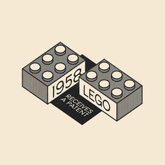 This Day In History - Jan 28 -1958 - Lego receives a patent. --- #thisdayinhistory #todayinhistory #tdih #history #onthisday #minimal #minimalism #simple #minimalist #texture #adobe #illustration #vector #365project #lego #fact #legos #toy #building #block #isometric #architecture #1958