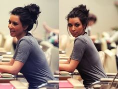 I love this messy bun.
