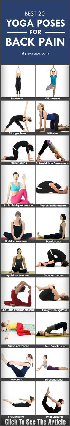 Suffering from back pain? If yes, then you have come to the right place. Say goodbye to your back pain with these simple and easy-to-do yoga poses.from stylecraze.com #yoga #yogaposes