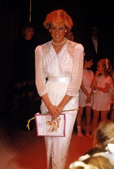 dianaspot:  Diana attending a charity gala in aid of Birthright, at the London Palladium, 24th June 1987. She is wearing a dress by Zandra Rhodes.
