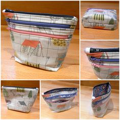 Flying Blind On A Rocket Cycle: Triple Zipper +     Cute idea to make it with boxed corners! I like that a lot, might need to try it!