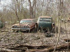 '63 Chevy 2 door hardtop & a '55 Chevy wagon