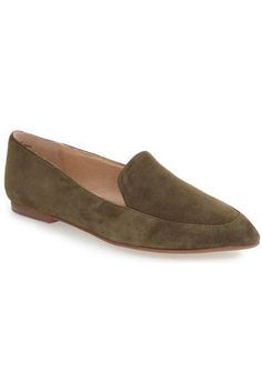 Our Favorite Fall Flats: Olive-Hued Suede Shoe