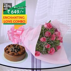 #Deal Of the Day! Flat 48% OFF on this #Enchanting Love #Combo. #Senmygift brings to you this Unique Combo of Charming #Bouquet of #Pink #Roses and #Yummylicious #Chocolate #cake worth Rs.1249 only at Rs.649. Amazing Deal Isn't it?  Order Now at http://bit.ly/2b5ccME  Chocolate Cake Boss Cake And Bake Flowers and Nature P!nk Happy Feet Sendmygift India