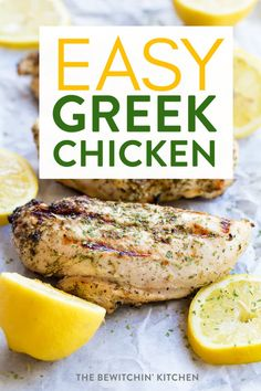 This easy greek chicken recipe is not only delicious but fits most lifestyles to. - This easy greek chicken recipe is not only delicious but fits most lifestyles to. This easy greek chicken recipe is not only delicious but fits most. Greek Chicken Breast, Baked Greek Chicken, Greek Chicken Recipes, Greek Recipes, Chicken Recipes Healthy Oven, Cooking Recipes, Healthy Recipes, Kitchen Recipes, Sauce Recipes