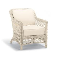 Hampton Lounge Chair with Cushions in Ivory Finish Overall Width Overall Depth Overall Height Seat Width Seat Depth Seat Height Arm Height