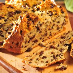 Irish Soda Bread with Chocolate (Easy; 12 servings) #soda bread