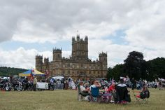 Crowds Gathering For The Amazing Heroes At Highclere Charity Day