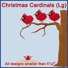 A Christmas Cardinals Pack - Lg design (X1698) from www.Emblibrary.com