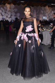 Kerry Washington Wore a Tulle Ballgown That Will Take Your Breath Away